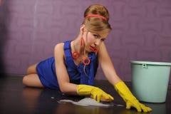 gospodyni domowej up wałkowy seksowny obrazy stock