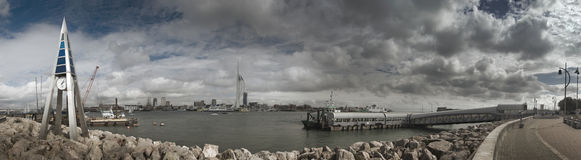 Gosport Ferry Panorama Royalty Free Stock Images