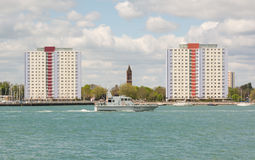 Gosport from Portsmouth Harbour, England Royalty Free Stock Photos