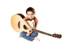 Gosse avec la guitare Image libre de droits