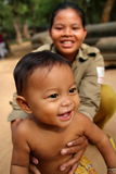 Gosse cambodgien heureux Photo stock