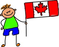 Gosse canadien Images libres de droits