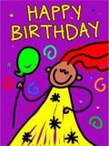 Gosse d'anniversaire illustration libre de droits