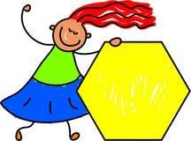 Gosse d'hexagone illustration stock