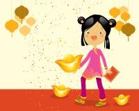 Gosse d'an neuf de Chineze illustration stock