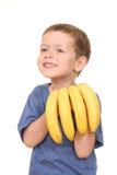 Gosse de banane Photographie stock libre de droits