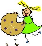 Gosse de biscuit illustration libre de droits