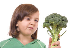 gosse de broccoli Photo libre de droits