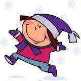 Gosse de l'hiver Image libre de droits