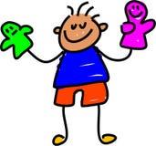 Gosse de marionnette illustration libre de droits