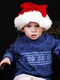 Gosse de Noël Photographie stock libre de droits