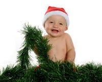 Gosse de Noël heureux Photos libres de droits