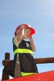 Gosse de sapeur-pompier Images libres de droits