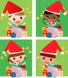 Gosse et Noël Photographie stock libre de droits
