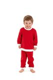 Gosse gai dans le costume de Santa photos stock