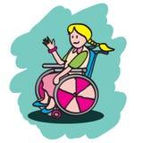 Gosse handicapé Images libres de droits
