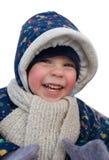Gosse heureux de l'hiver Photographie stock