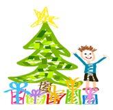 Gosse heureux de Noël Photographie stock libre de droits