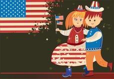 Gosses américains Image libre de droits