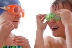 Gosses avec des lunettes Photographie stock libre de droits