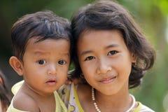 Gosses cambodgiens Photo libre de droits