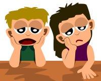 Gosses déprimés Image stock