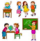 Gosses d'école Images libres de droits
