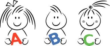 gosses d'ABC Image libre de droits