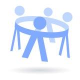 Gosses dans de cercle le logo de pair Photo stock