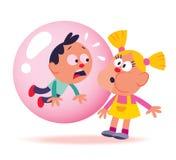 Gosses de bubble-gum illustration de vecteur