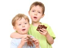 Gosses de chocolat image stock