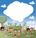 Gosses de dessin animé Image libre de droits