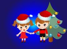 Gosses de Noël illustration stock