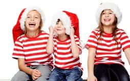 Gosses de Noël Photographie stock libre de droits