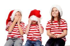 Gosses de Noël Photo libre de droits