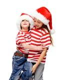 Gosses de Noël Photos stock