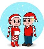 Gosses de Noël Images libres de droits