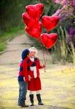 Gosses de Valentines Images libres de droits