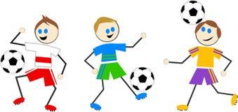 Gosses du football Photos libres de droits
