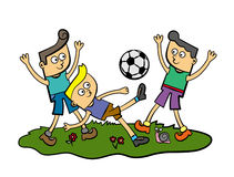 Gosses du football Images libres de droits