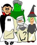 Gosses effrayants dans des costumes Photos libres de droits