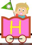 Gosses et séries de train - H Photographie stock libre de droits