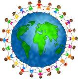 Gosses globaux Image libre de droits