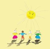 Gosses heureux Images stock