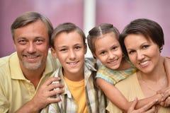 gosses heureux de famille Photo stock