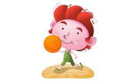 Gosses jouant au basket-ball Photographie stock libre de droits