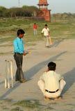 Gosses jouant au cricket photos stock
