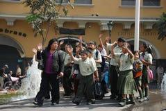 Gosses péruviens Photographie stock libre de droits