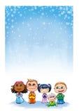 Gosses - papier de Noël illustration de vecteur