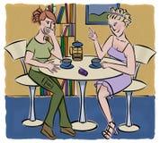 Gossip. Girls gossiping in coffee shop Stock Photos